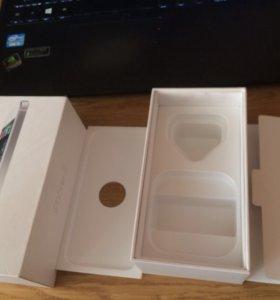 Коробка от iPhone 5 на 16gd белого цвета
