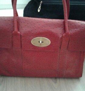 Новоя сумка из натуральной кожи