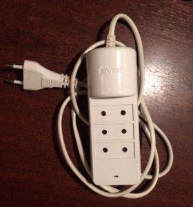 Сетевой фильтр с 2мя USB, 3 розетки Sven Bonus
