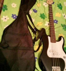 Бас гитара почти не использовалась