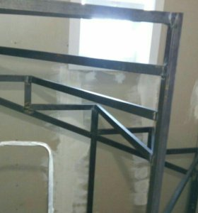Изготовление лестницы из профиля.