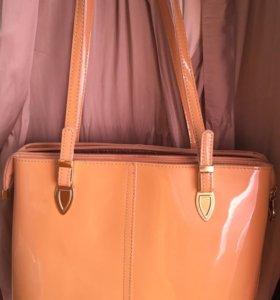 Лаковая сумка из натуральной кожи (Westfalika)