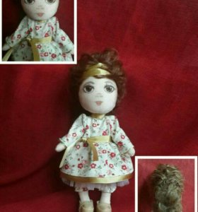 Трикотажная кукла. Рост 22 сантиметра