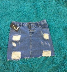 Юбка джинсовая 44 размер