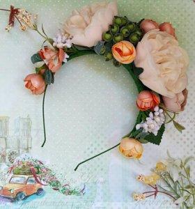 Ободки с цветами