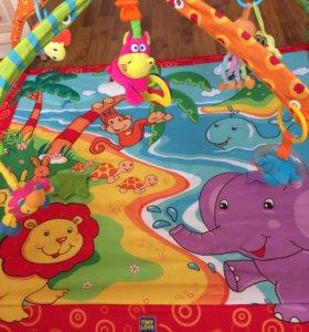 Коврик Tiny love  для детей с игрушками.