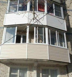Балконы, лоджии. Остекление и отделка.