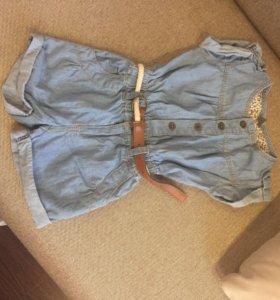 Детский джинсовый комбинезон Zara р-р 2-3 года