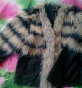 Пиджак с искуственным мехом