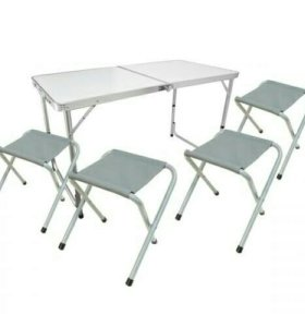 Набор складной мебели для походов стол + 4 сульчик