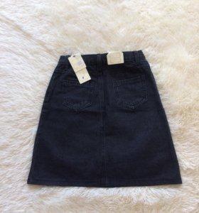 Новая джинсовая юбка трапеция