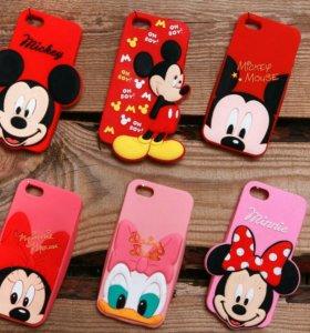 Чехол Disney Mickey для iPhone 5, 5s и 5se. Новый