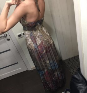 Шифоновое платье в пол 44-46