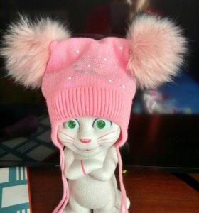 Зимняя шапка на 3-4 года