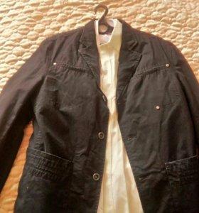 Пиджак черный, размер 50-52