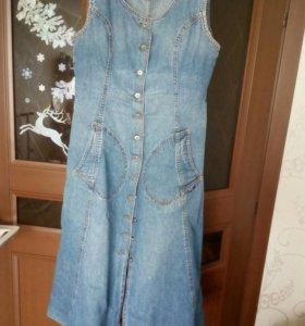 Сарафан из джинсовой ткани48-50 р.