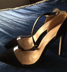 Новые туфли, замш