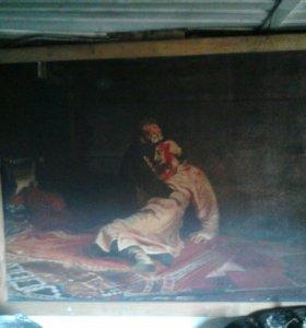 Картина Иван Грозный убивает своего сына