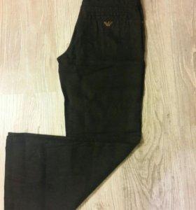 Armani jeans брюки 100% лен. 26 размер