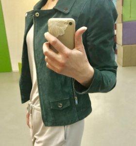 Замшевая куртка zara
