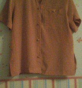 Блуза шелковая 16 р