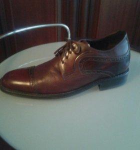 Мужские туфли. Кожа.италия.торг