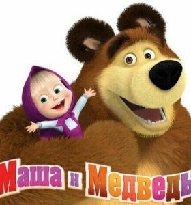 Платье на утренник, костюм Маша и Медведь