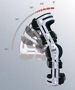 Ортез коленного сустава на левую ногу 56размер