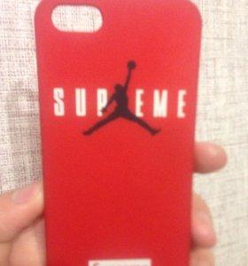 Чехол для IPhone 5/5s/5c Supreme x Air Jordan