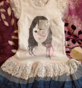Новое платье 80 см