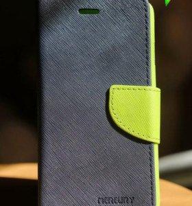 Чехол-книжка на iPhone 6/6S, зеленая