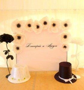 Декор свадебных помещений, оформление поаздников