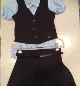 Форма школьная темно-синяя Borelli-7,жакет,юбка.