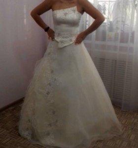 Свадебное платье (топ и юбка)