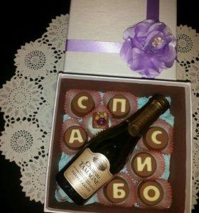 Шоколадные послания, конфеты и плитки