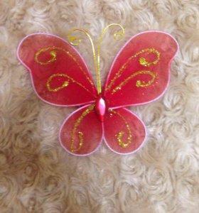 Бабочка брошка