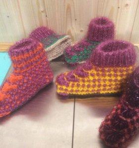 Тапочки вязанье детские