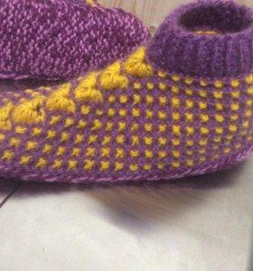 Тапочки вязанье