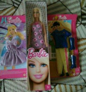 Кукла Барби + 2 комплекта одежды