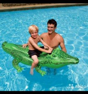 Крокодил надувной 168 см интекс intex