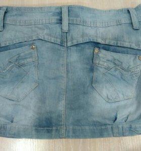 Юбка джинсовая б/у.