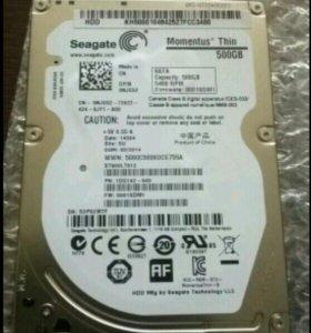 Жеский диск 2,5; Seagate 500Gb, 5400RPM