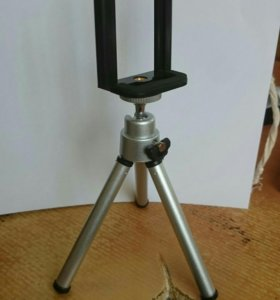 Мини Штатив для фотоаппарата с насадкой для телефо