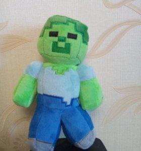 Плюшевые игрушки Зомби из Майнрафт