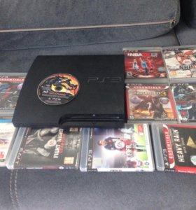 PS3 и 11 игр к ней и 2 джостика