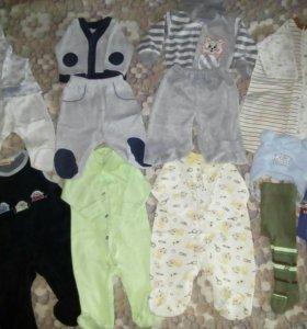 Пакет одежды на малыша от 0 до 6 мес