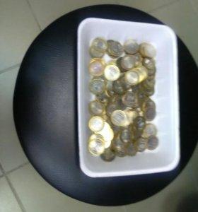 Набор монет 10 руб. би.м. 100 штук!