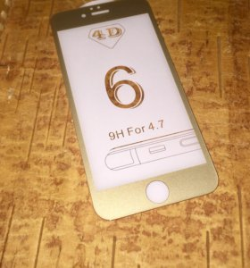 4D защитное стекло для iPhone 6