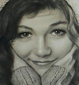 Портрет карандашом качественно и красиво