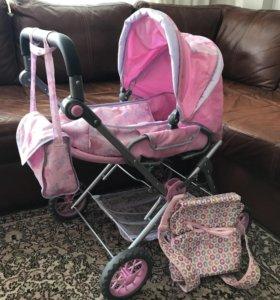 Игрушечная коляска Baby born ( 3 в 1) + переноска
